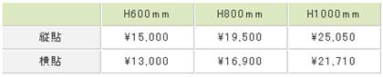 フェンス価格表