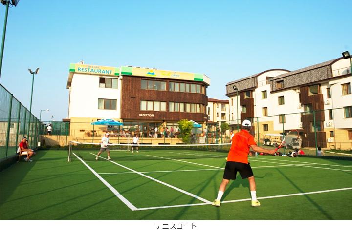 テニスコートに使用した競技用人工芝