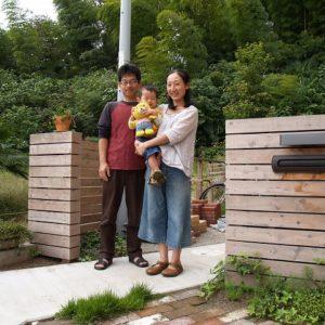 ひのきの家に合うひのきの庭